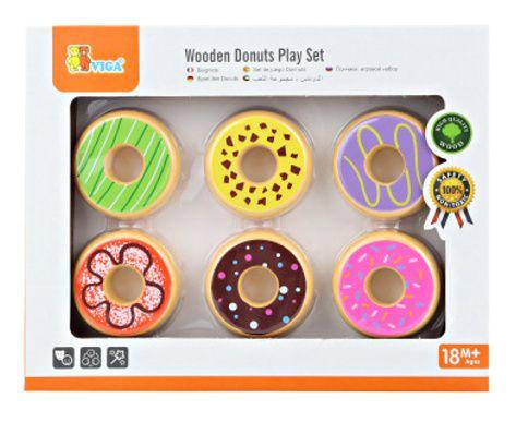 Dřevěné donuty (koblížky)