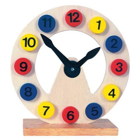 Dřevěné hodiny - pomůcka k výuce BINO