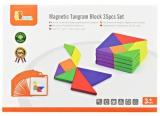 Dřevěný magnetický tangram - 35 dílků
