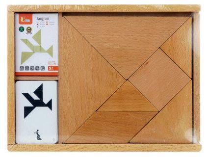 Dřevěný tangram s předlohami - velký