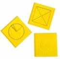 Geoboard - oboustranná geometrická tabulka s gumičkami