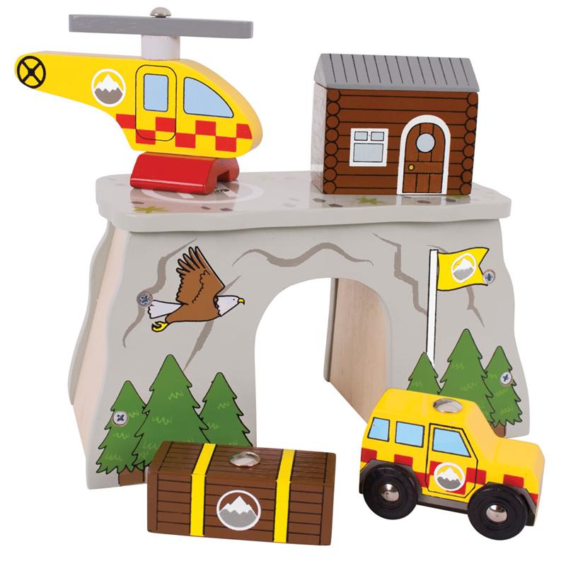 Horská záchranná stanice (horští záchranáři) - dřevěné vláčky BIGJIGS