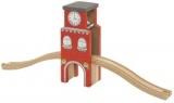 Věž s hodinami - dřevěné vláčky