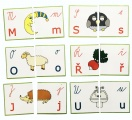 Montessori - skládačka 4 PODOBY PÍSMEN (54 kartiček)