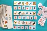 Montessori - SKRYTÁ SLOVA 4 (skládání slov)
