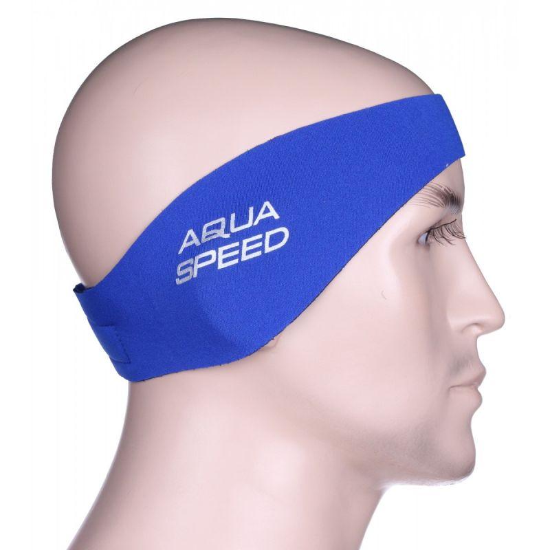 Neoprenová čelenka Junior - modrá AquaSpeed