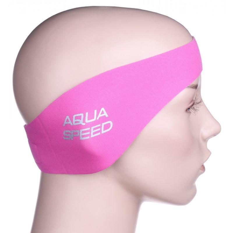 Neoprenová čelenka Junior - růžová AquaSpeed