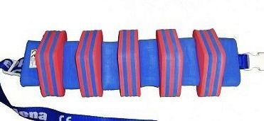 PLAVECKÝ PÁS PRUH - červená-modrá 11 dílků DENA