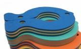 Plovák RYBA - pruh modro-žlutý
