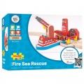 Požární mořská záchranná stanice - dřevěné vláčky BIGJIGS