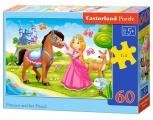 Puzzle 60 dílků - Princezna s koníkem