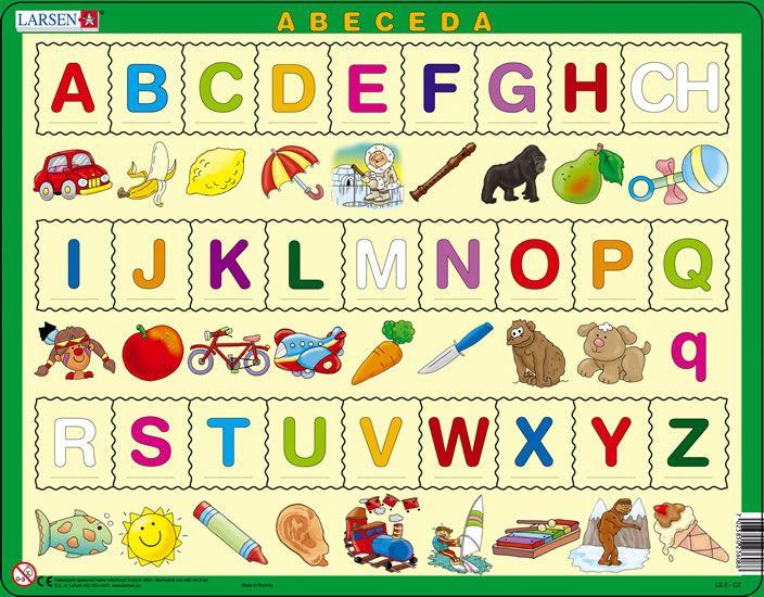 puzzle - ABECEDA S OBRÁZKY, čeština Larsen