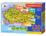 Puzzle MAPA České republiky - 120 dílků