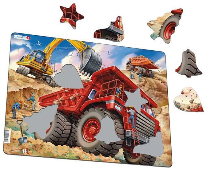 puzzle NÁKLAĎÁK + BAGR, 33 dílků Larsen
