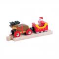 Vánoční souprava - Santa a sáně - dřevěné vláčky BIGJIGS