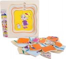 Vícevrstvé puzzle věk - generace babička - 5 vrstev