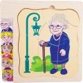 Pětivrstvé puzzle věk různé generace - BABIČKA